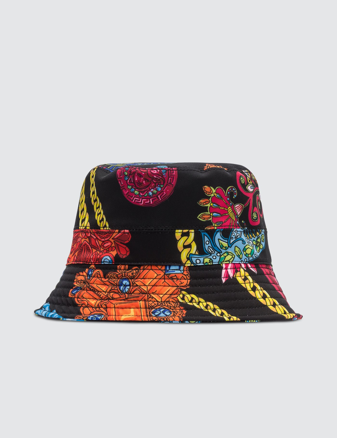 f2cb2ba7 Buy Original Versace Allover Chain Print Bucket Hat at Indonesia ...