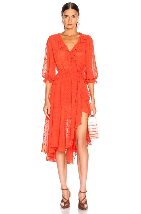 ICONS 3/4 Sleeve Cha Cha Wrap Dress