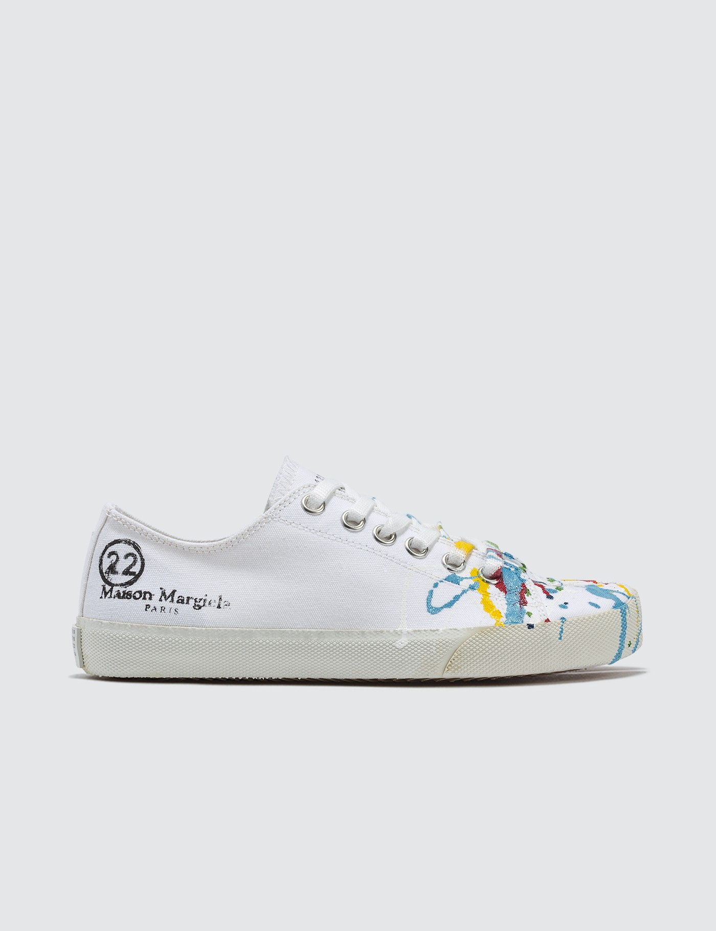 9b68367ca80 Tabi Paintdrop Canvas Sneakers, Maison Margiela