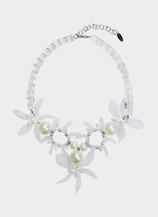 House of Jealouxy Edelweiss Necklace - Clear White