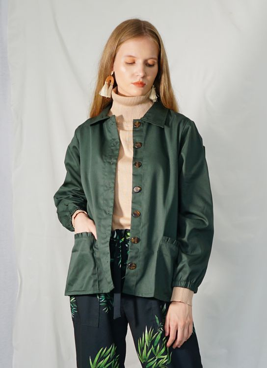 Ensemble Chrysanthemum Jacket - Green
