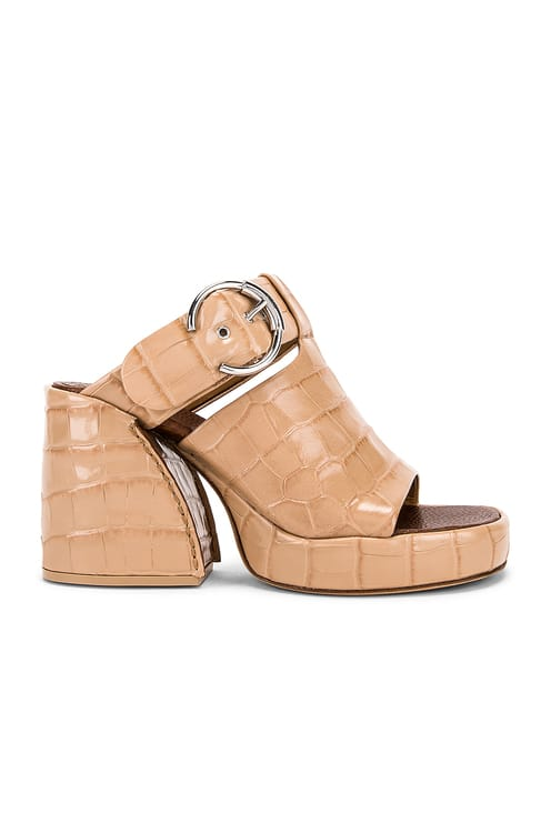 Chloé Buckle Platform Sandals