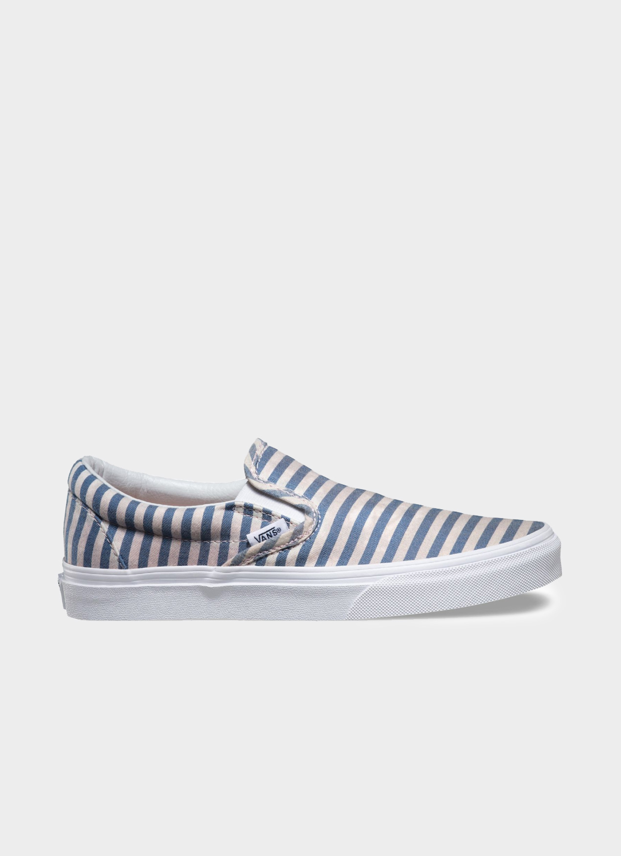 55e7234a5a49 Buy Original VANS Blue Stripes Classic Slip On (W) at Indonesia ...