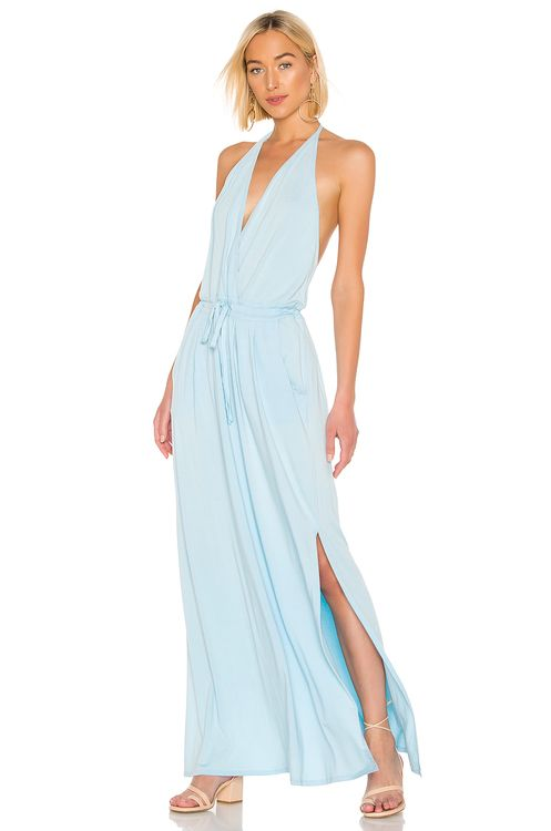 bobi Draped Modal Jersey Maxi Dress