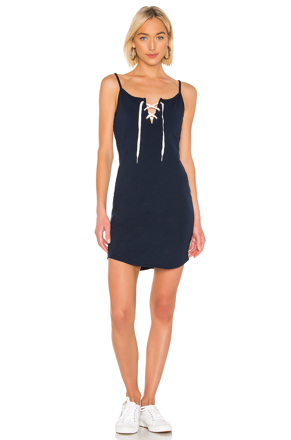 MONROW Lace Up Dress