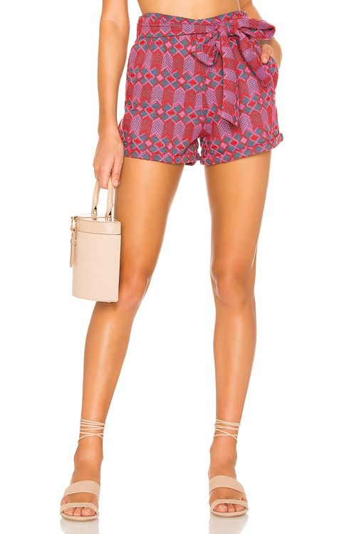 TULAROSA Claire Embroidered Short
