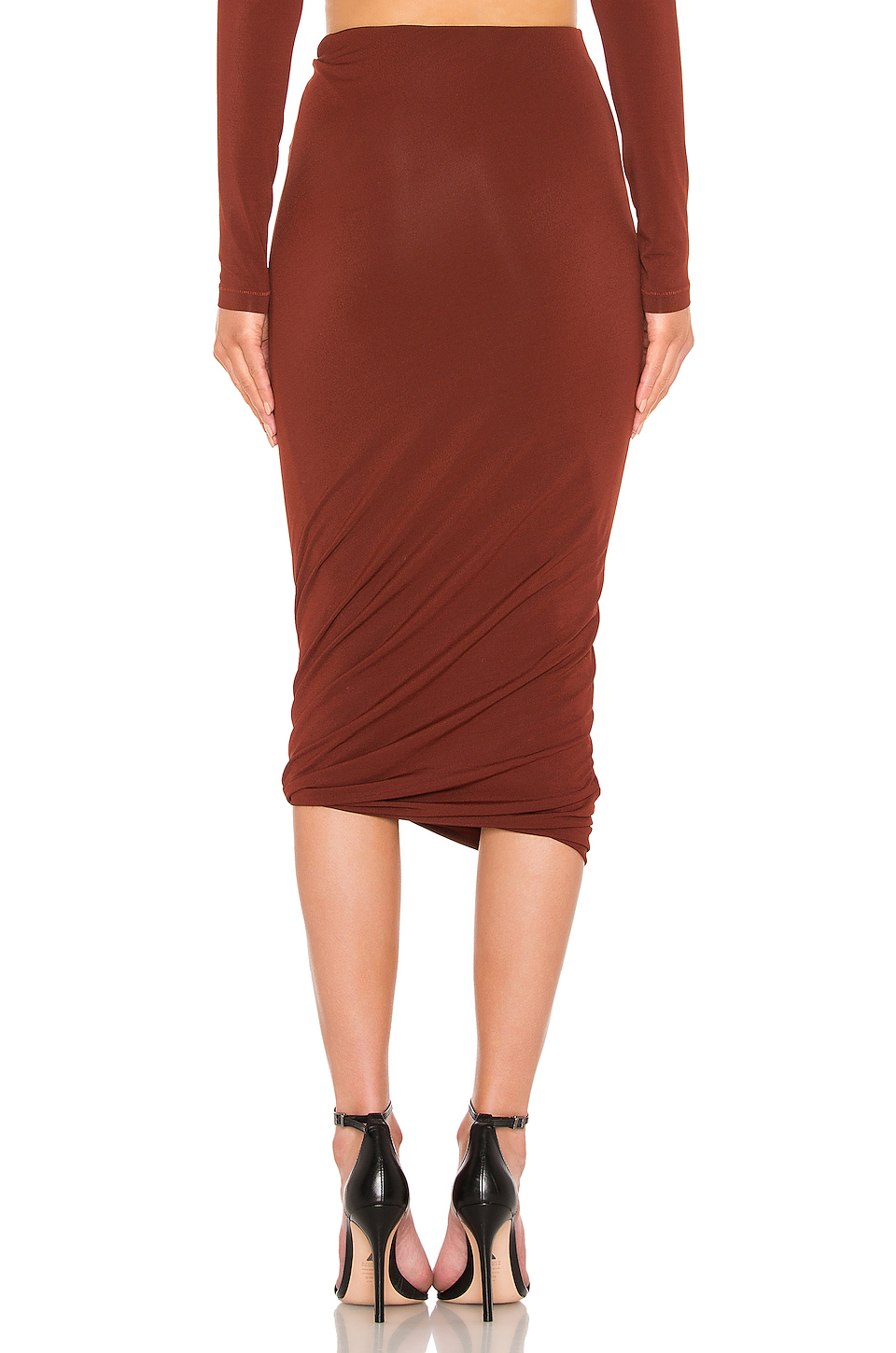 ff0522e804197 Buy Original T by Alexander Wang Crepe Jersey Twisted Skirt at ...