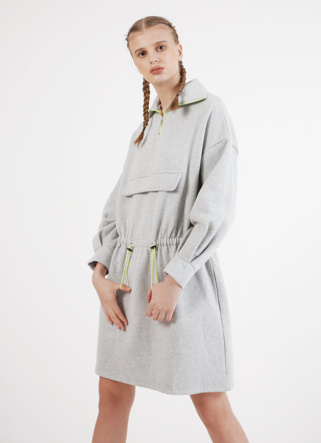 BOWN Alicia Dress - Gray