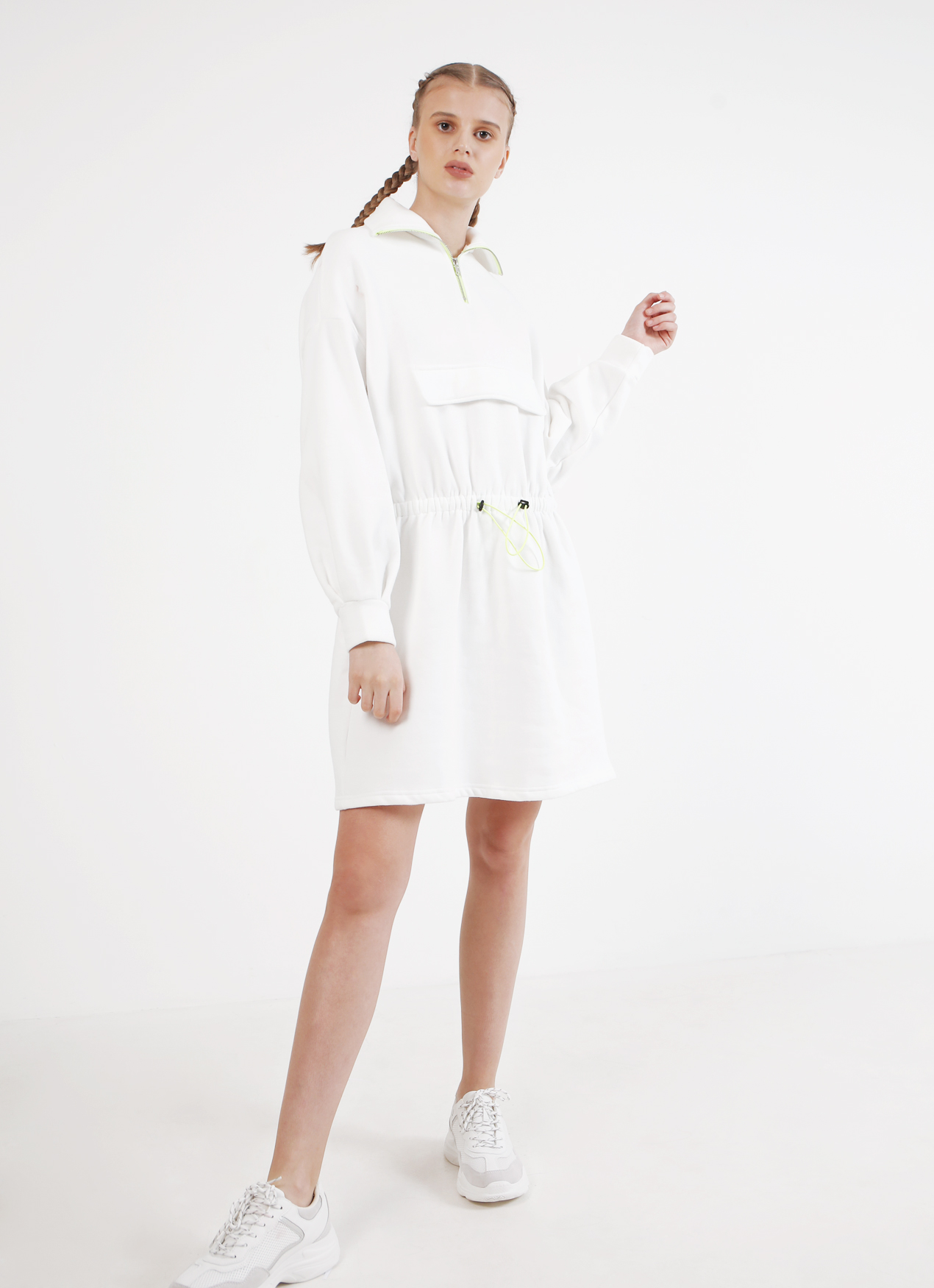 BOWN Alicia Dress - White