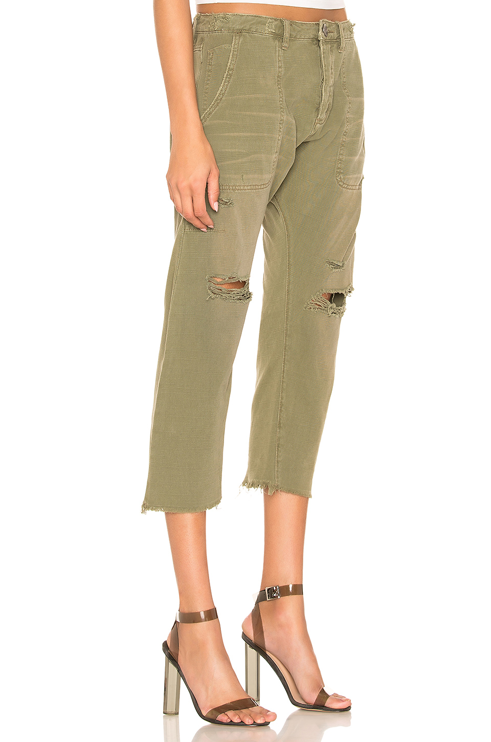 One Teaspoon Safari Sinners Tapered Crop