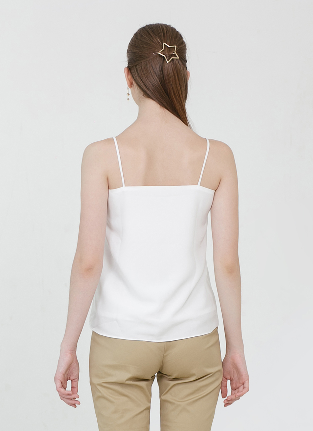 CLOTH INC Basic V Neck Tank - White