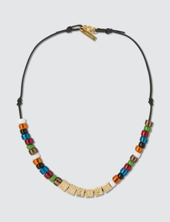 AMBUSH Letter-block And Beads Necklace