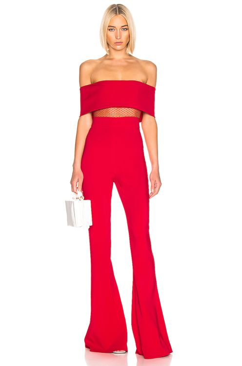 Cushnie Off Shoulder Jumpsuit