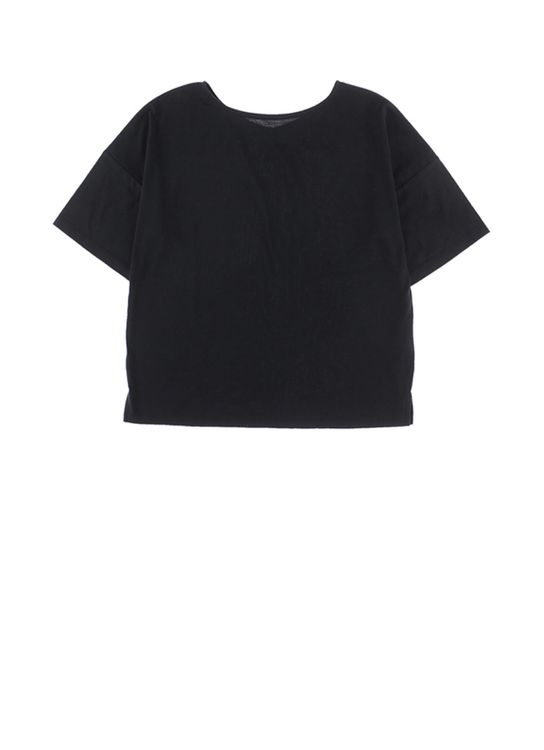 Stripe Japan : E-hyphen World Gallery Yuka Top - Black