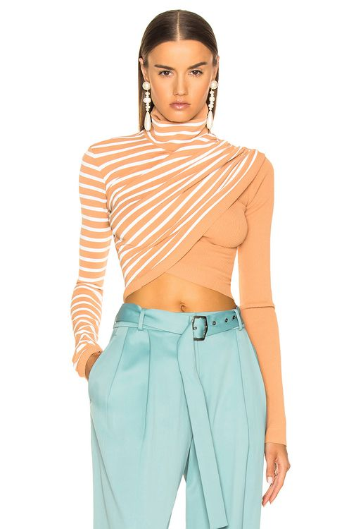 Sies Marjan Jenn Wrap Crop Turtleneck Sweater