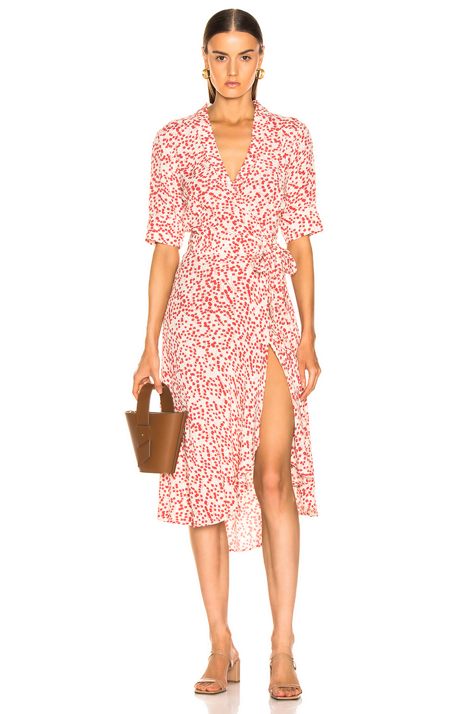 buy cheap discount price quality products Printed Crepe Dress, Ganni