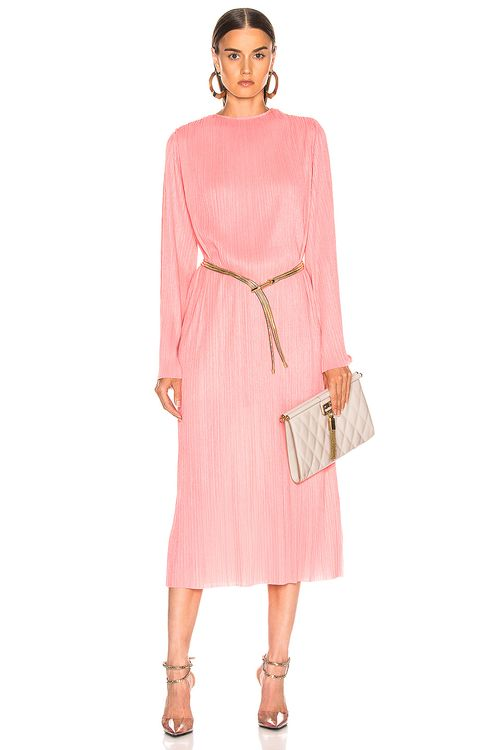 Givenchy Pleated Long Dress