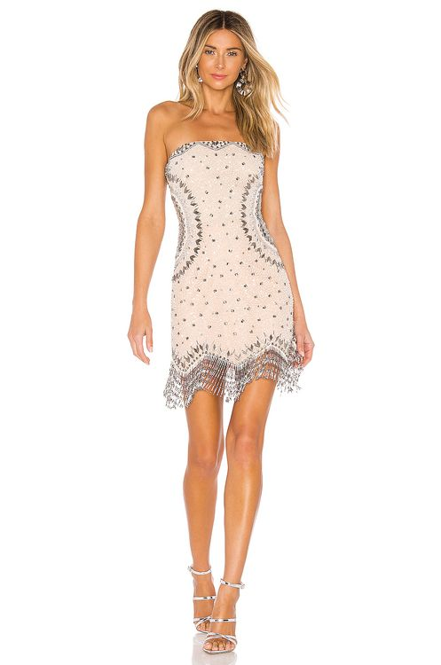 X by NBD Betsy Embellished Mini Dress
