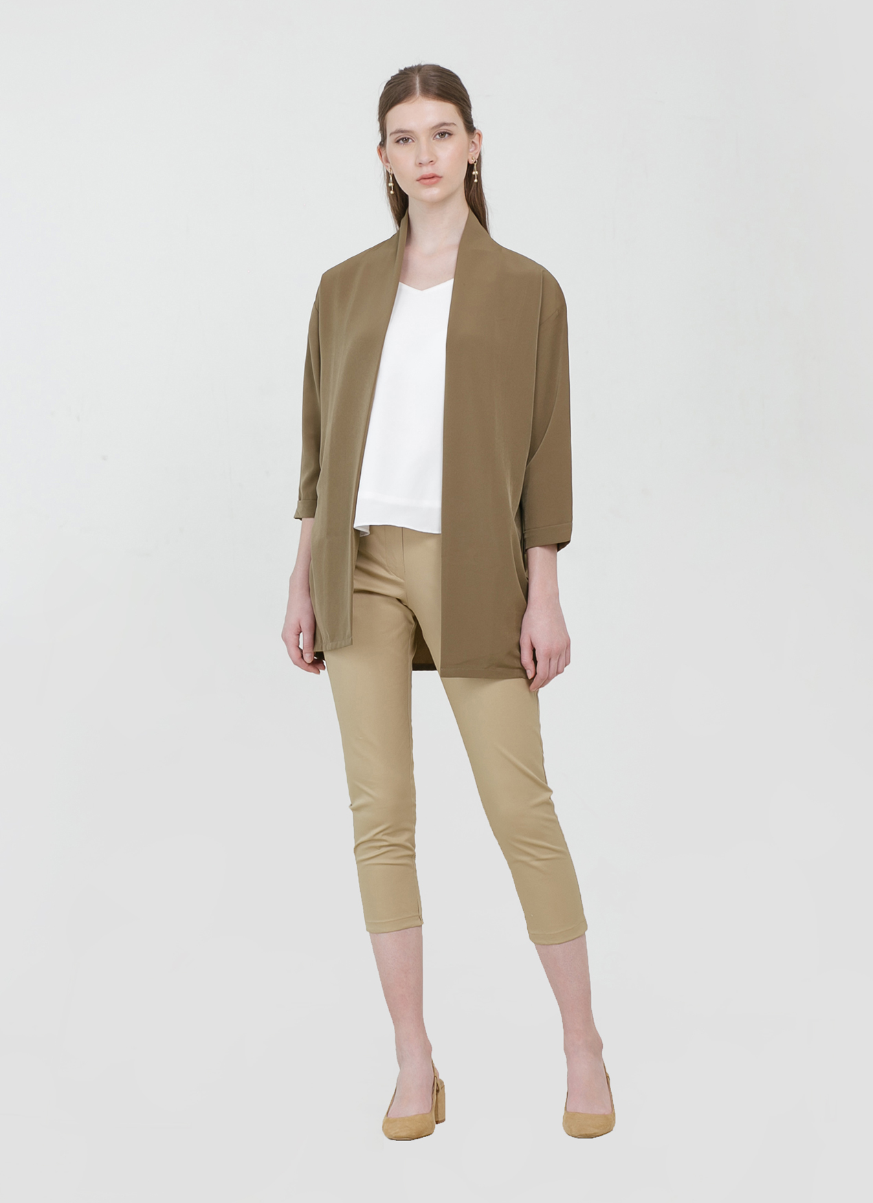 CLOTH INC Blake Loose Outer - Olive