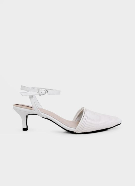 WATT - Walk the Talk Bree Kitten Heels - White