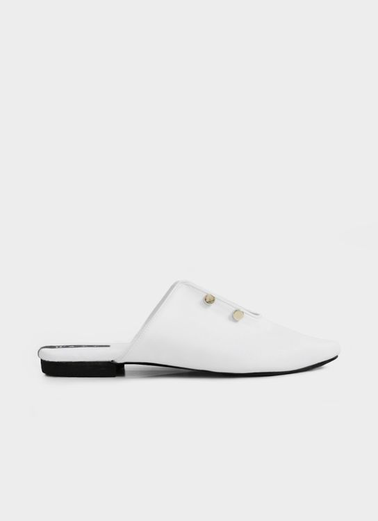 WATT - Walk the Talk Novelty Mules - White