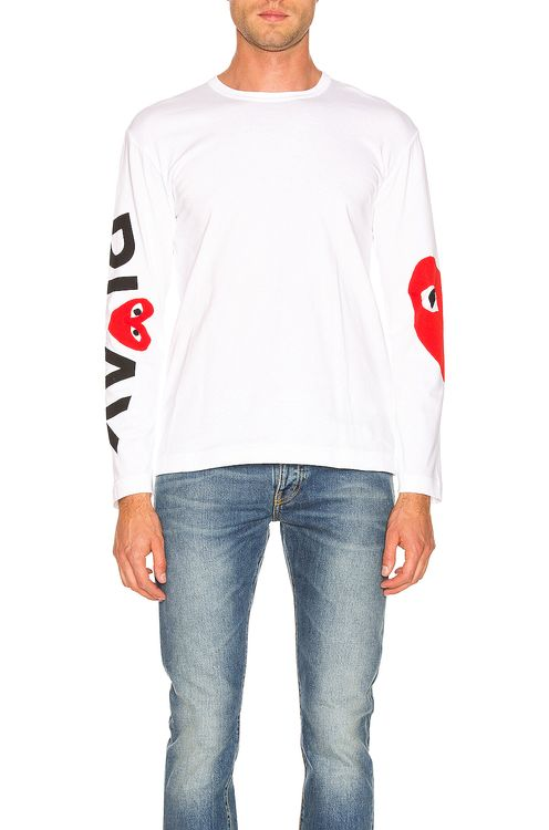Comme Des Garcons PLAY Logo Tee