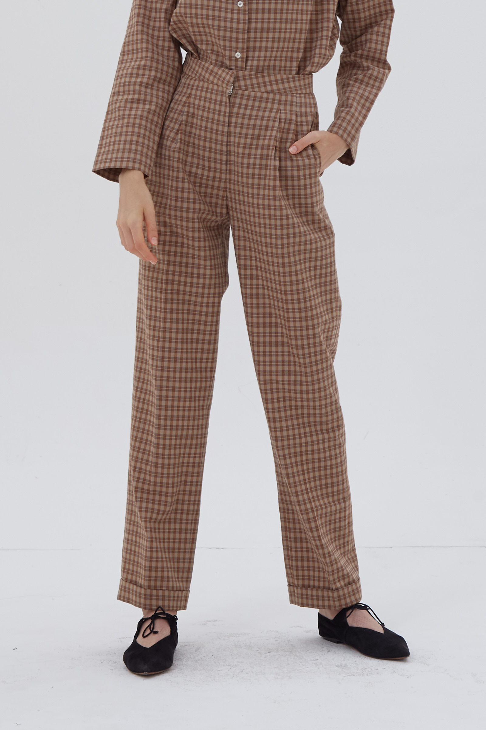 Shopatvelvet Brit Tartan Trousers
