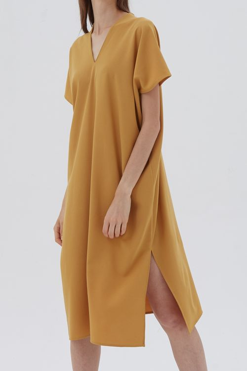 Shopatvelvet Elevation Dress Mustard