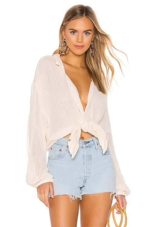 Jen's Pirate Booty Bonny Button Up Top