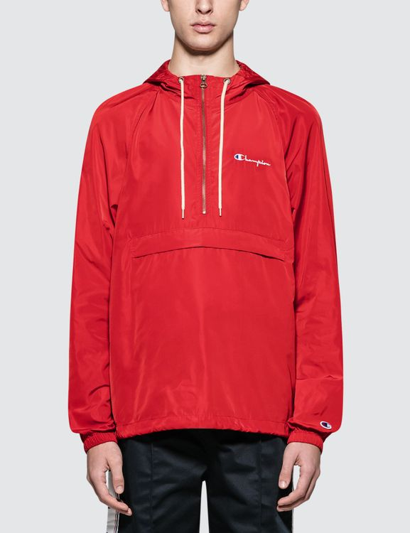 Champion Reverse Weave Hooded Half Zip Jacket