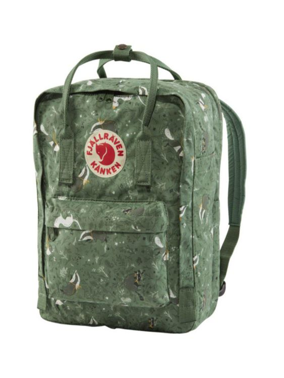 FJALLRAVEN Fjallraven Kanken Art Laptop 13 Inch Backpack Green Fable