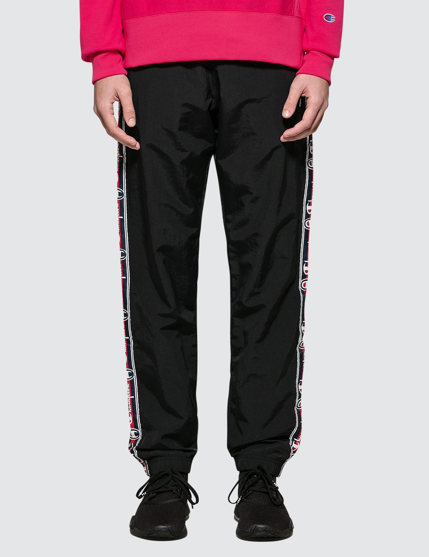 1c826e89f0cd ... Champion Reverse Weave Side Taped Track Pants With Elastic Cuff ...