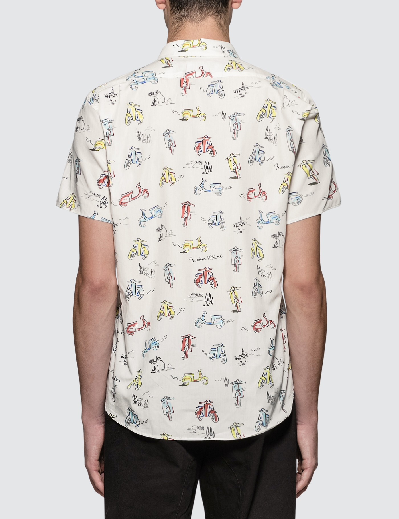 MAISON KITSUNE All-Over Scooter S/S Shirt