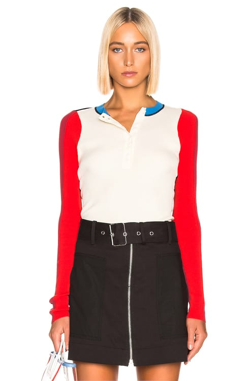Proenza Schouler PSWL Colorblock Long Sleeve Top