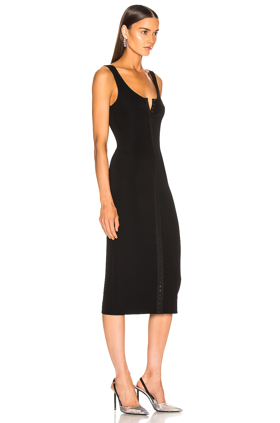 Mugler Hook and Eye Midi Dress