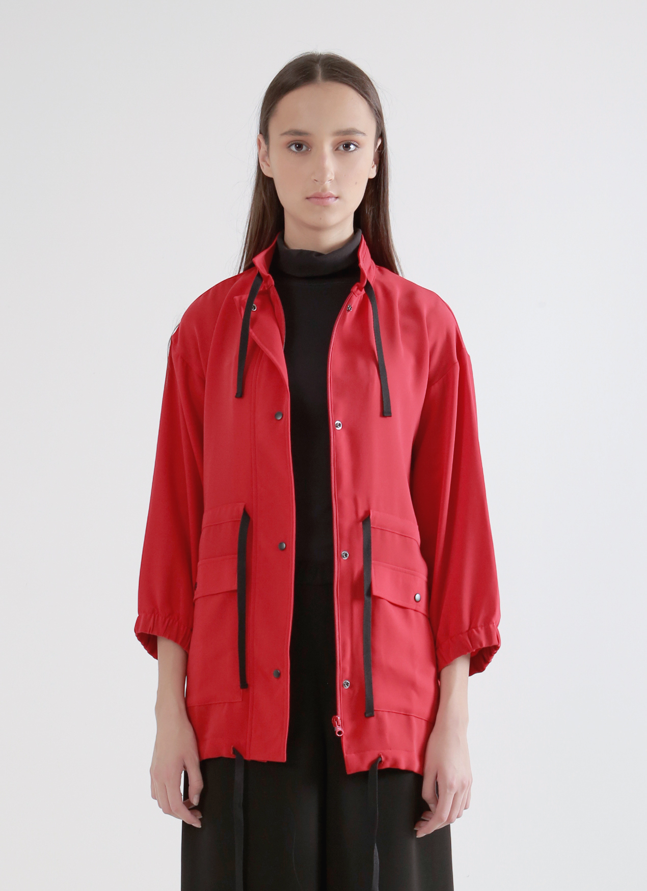 Wastu Soft Parka Jacket - Red