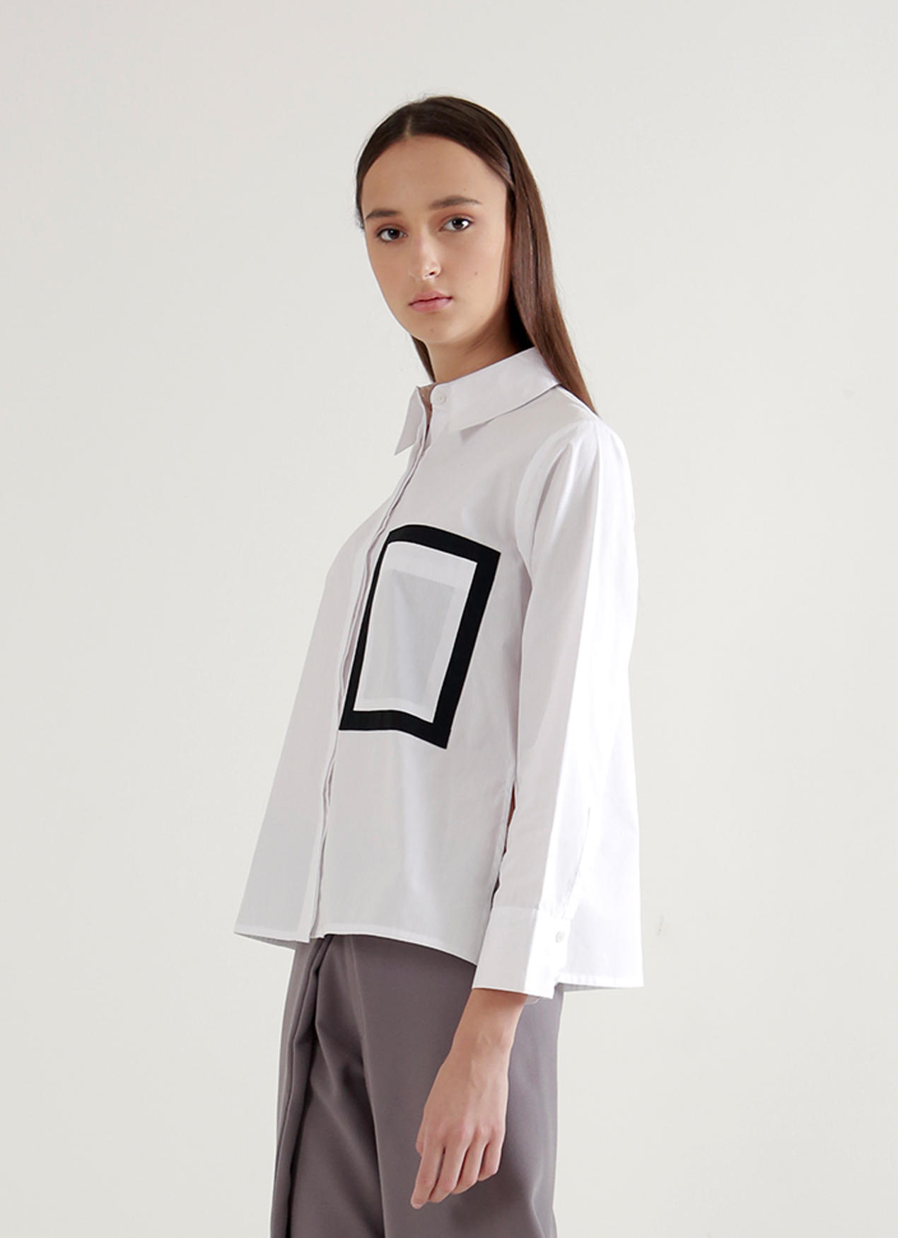 Wastu Frame Shirt - White