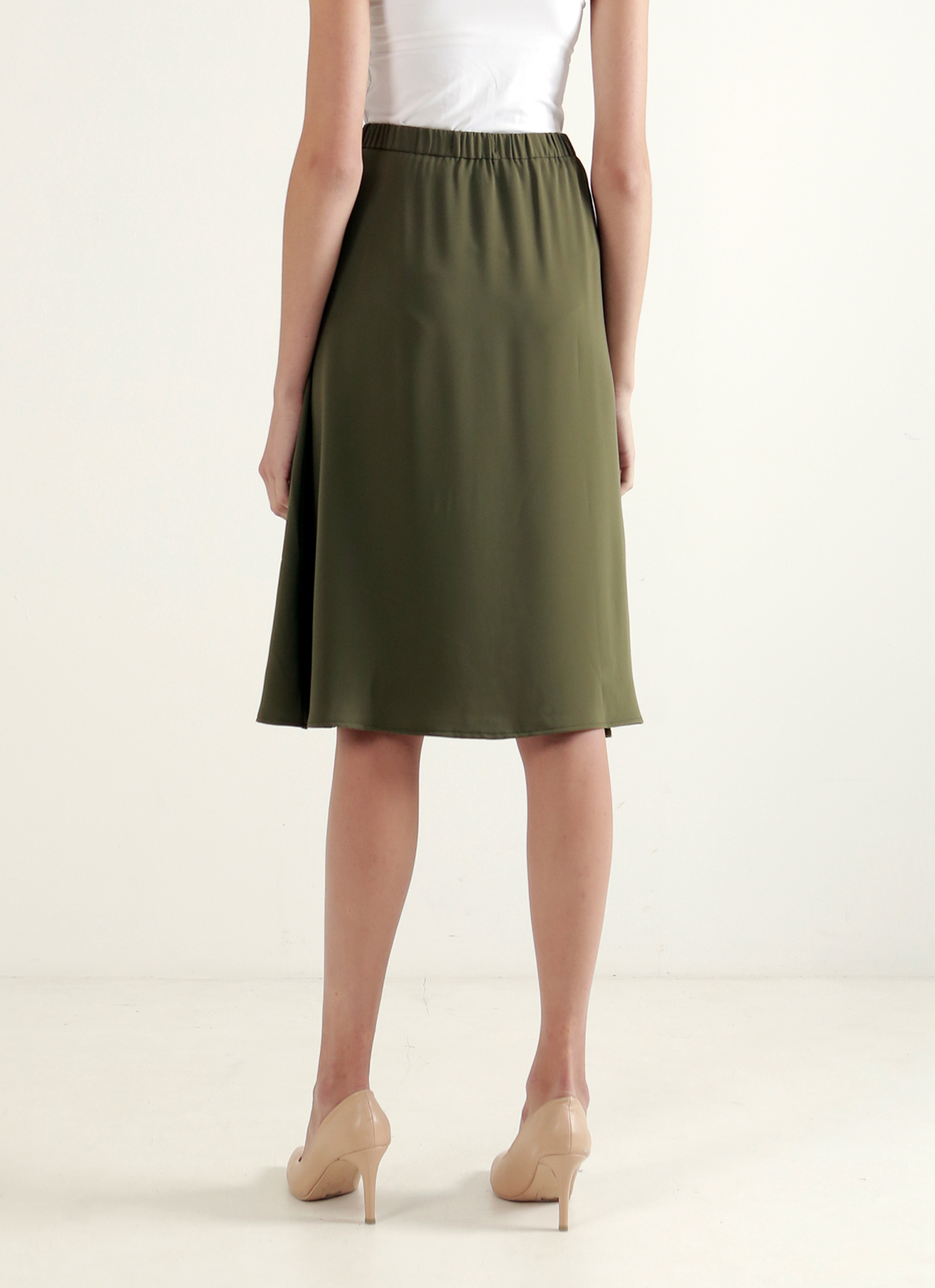 Wastu Gable Snap Button skirt - Army