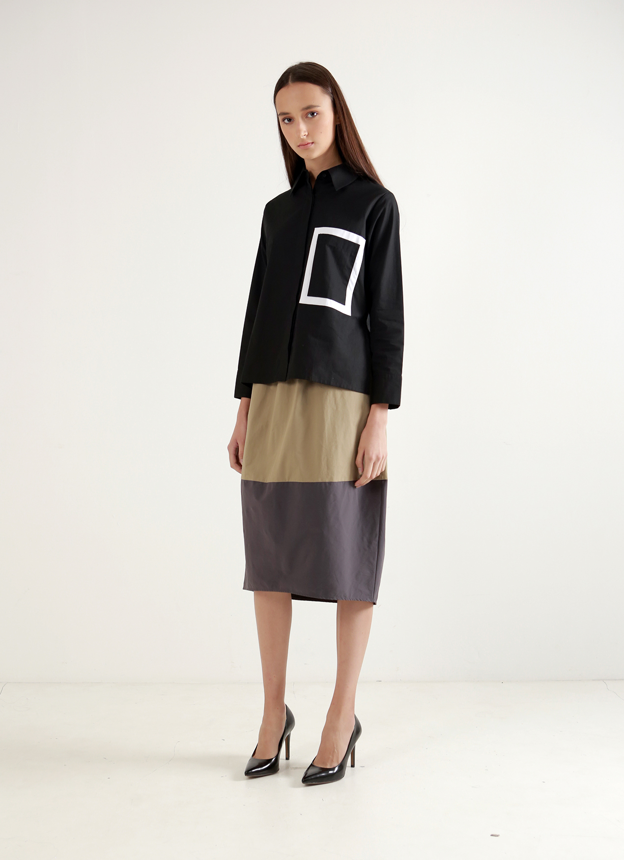Wastu Drum Skirt - Brown