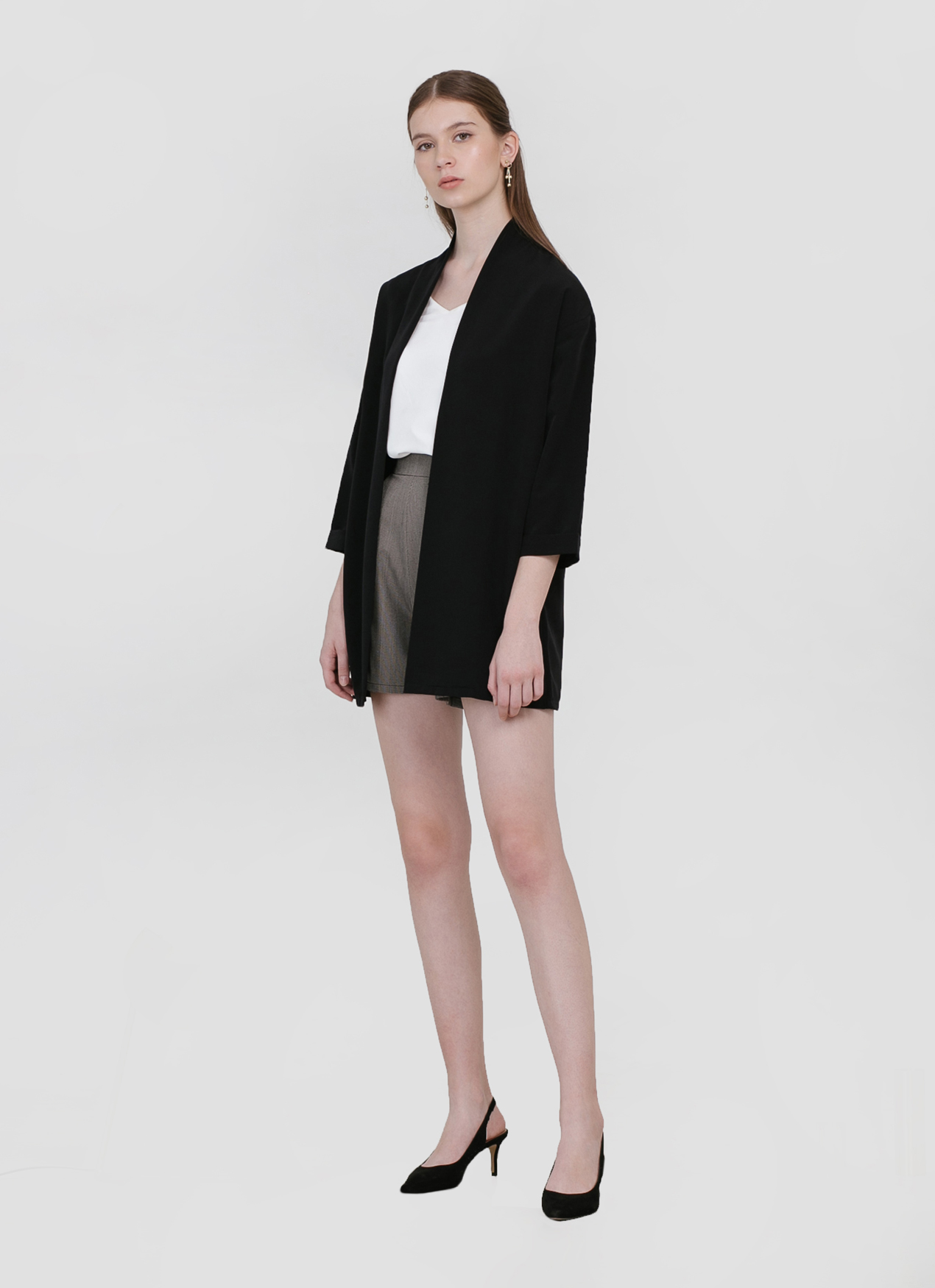 CLOTH INC Blake Loose Outer - Black