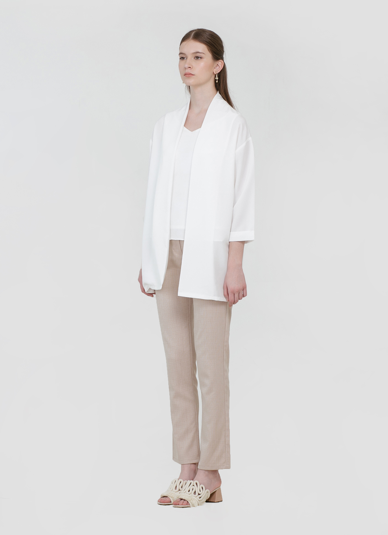 CLOTH INC Blake Loose Outer - White