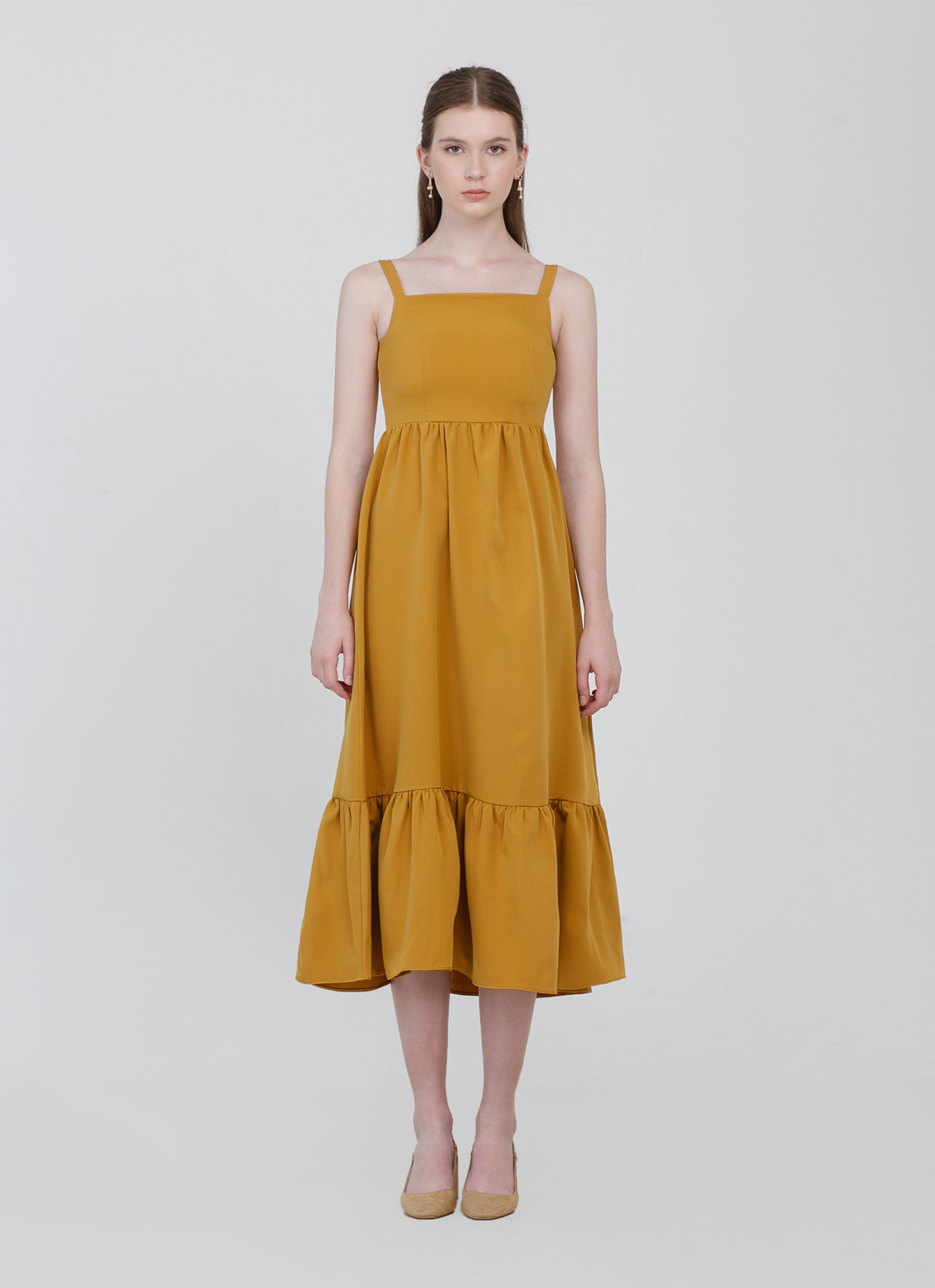 famous brand elegant shoes best supplier Buy Original CLOTH INC Sunny Midi Dress - Mustard at Indonesia ...
