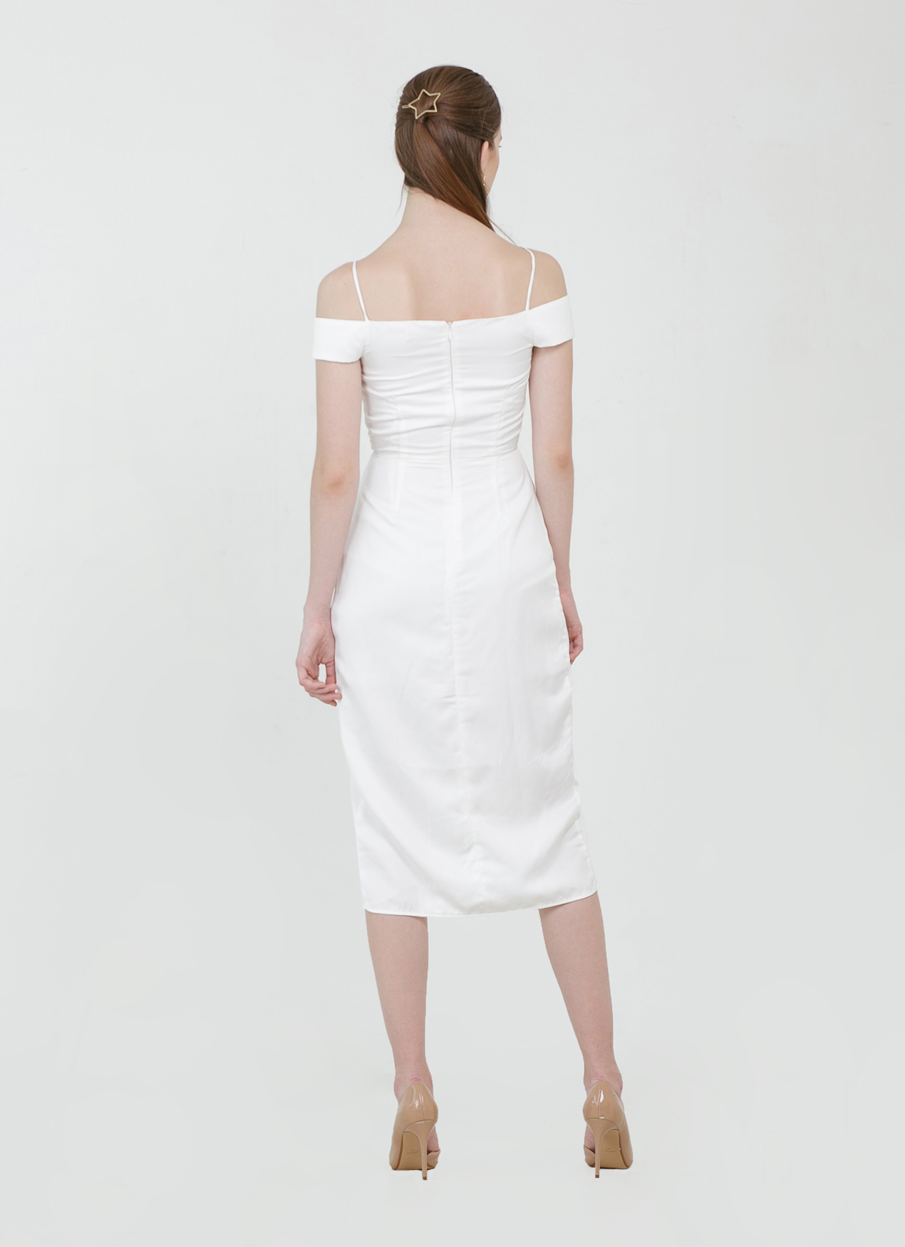 CLOTH INC Minka Tulip Dress - White