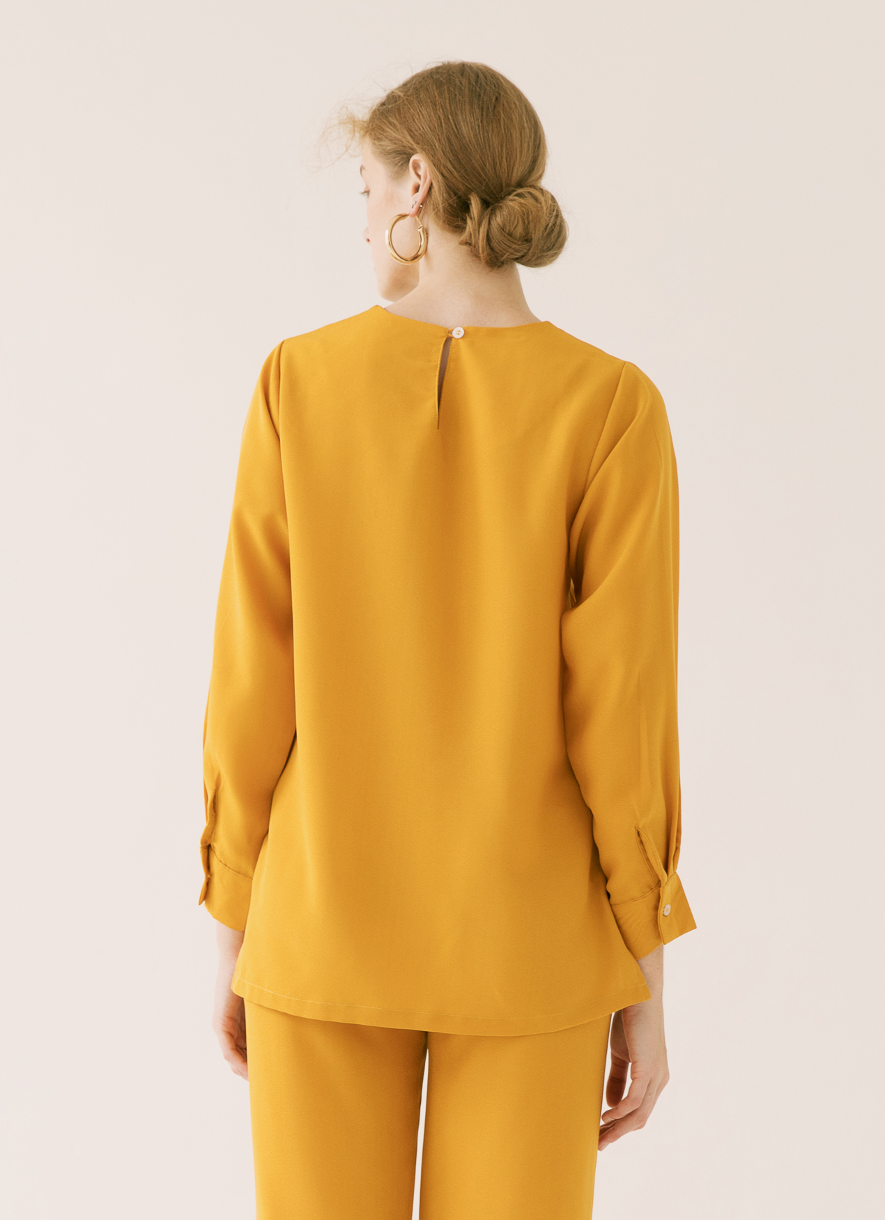 ATS THE LABEL Goldie Curry Top - Yellow