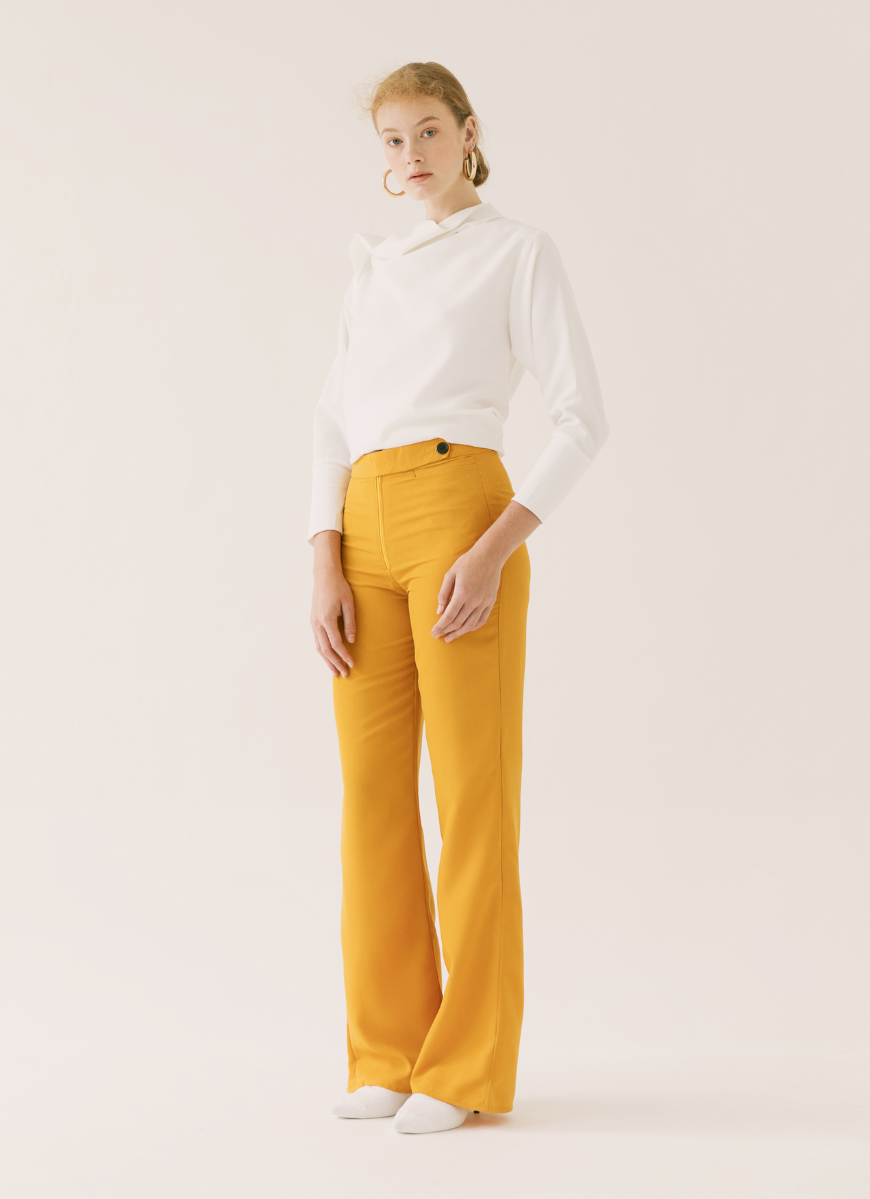 ATS THE LABEL Goldie Curry Pants - Yellow