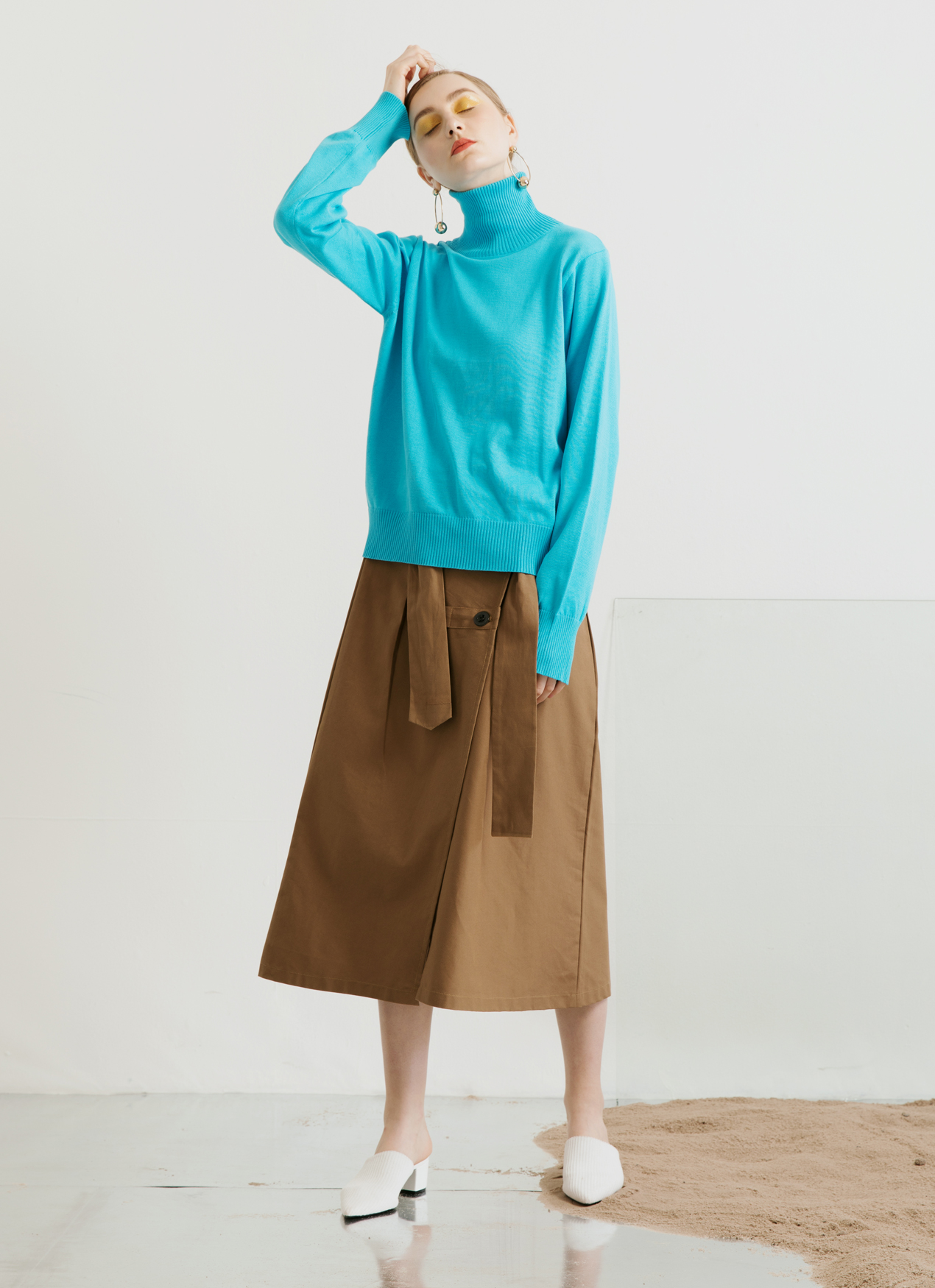 ATS THE LABEL Unica Turquoise Sweater - Turquoise