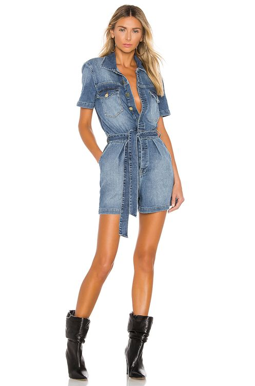 Frame Pleated Coverall Short