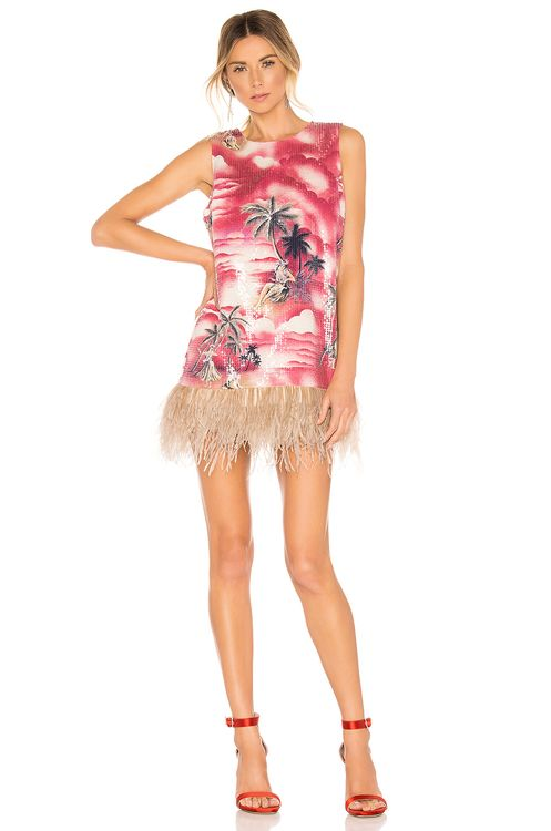 Le Superbe Night Shift Ostrich Feathers Dress
