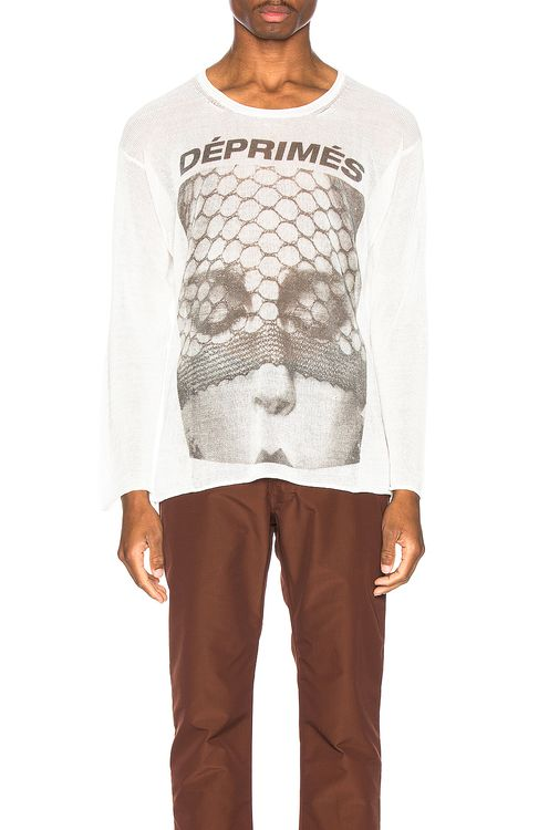 Enfants Riches Deprimes Cashmere Long Sleeve Print Tee