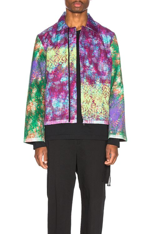Craig Green Vibrating Floral Line Stitch Worker Jacket